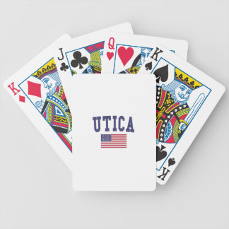Utica US Flag Bicycle Playing Cards