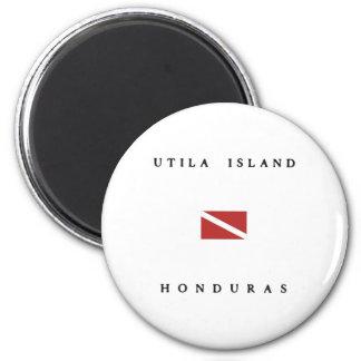 Utila Island Honduras  Scuba Dive Flag 6 Cm Round Magnet