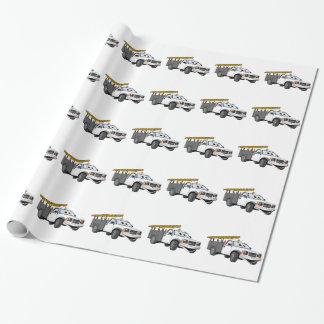 Utility Pick Up Truck Grey White Cartoon