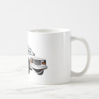 Utility Pick Up Truck Grey White Cartoon Basic White Mug
