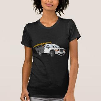 Utility Pick Up Truck Grey White Cartoon Shirts