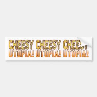 Utopia Blue Cheesy Bumper Sticker