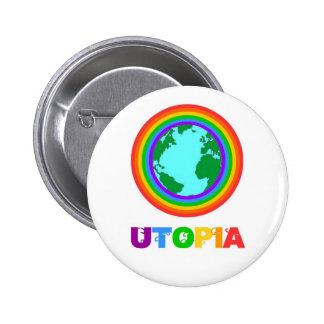 Utopia planet 6 cm round badge