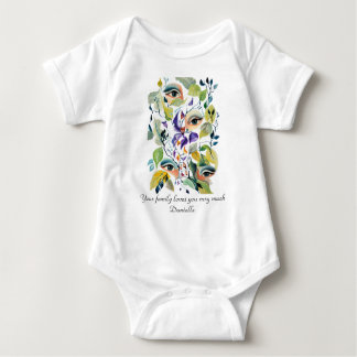 Utopian Avant-Garde Surreal Eyes Customize Baby Bodysuit