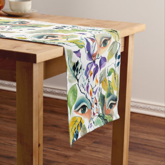 Utopian Avant-Garde Surreal Eyes Design Short Table Runner