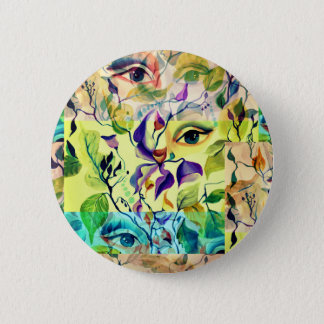 Utopian Psychedelic Surreal Eyes Design 6 Cm Round Badge