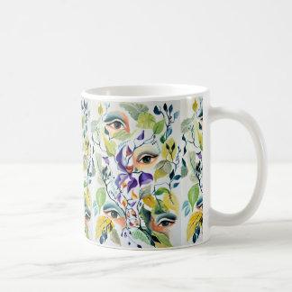 Utopian Psychedelic  Surreal Eyes Design Coffee Mug