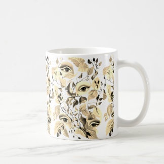 Utopian Sepia Surreal Eyes Design Coffee Mug