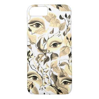 Utopian Sepia Surreal Eyes Design iPhone 8/7 Case