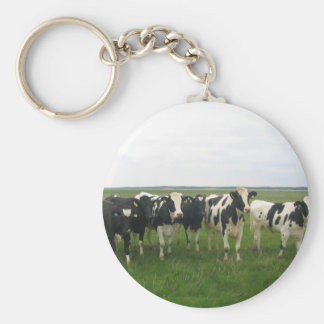 Utterly Delightful Cows! Basic Round Button Key Ring