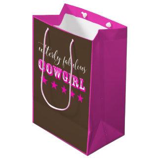 """Utterly Fabulous Cowgirl"" Medium Gift Bag"