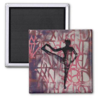 Utthita Yoga Girl - Square Magnet