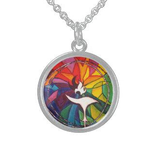 UU Chalice Round Silver Unitarian Universalist Round Pendant Necklace