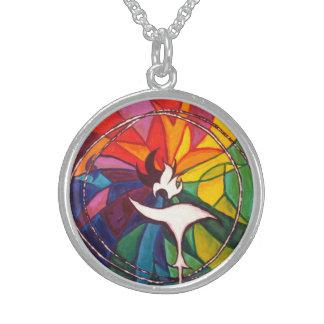 UU Chalice Silver Round Unitarian Universalist Sterling Silver Necklace