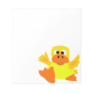 UU- Funny Duck Bigfoot Art Cartoon Notepad