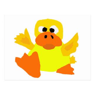 UU- Funny Duck Bigfoot Art Cartoon Postcard