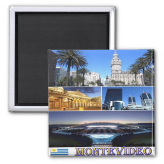 UY - Uruguay - Montevideo Mosaic Collage Magnet