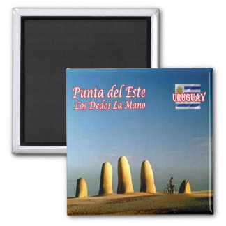 UY - Uruguay Punta del Este Fingers Hand Monument Magnet