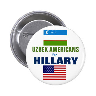 Uzbek Americans for Hillary 2016 6 Cm Round Badge