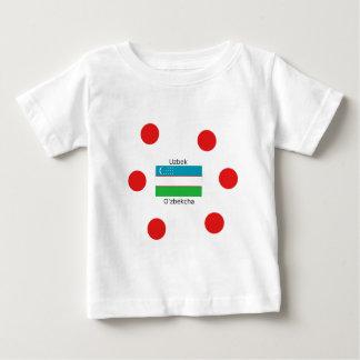 Uzbek Language And Uzbekistan Flag Design Baby T-Shirt