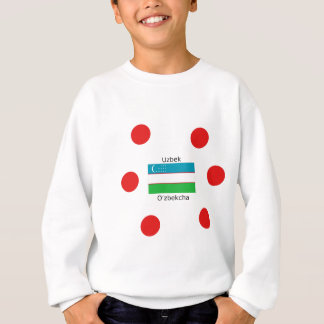 Uzbek Language And Uzbekistan Flag Design Sweatshirt
