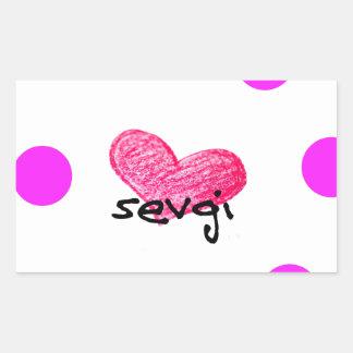 Uzbek Language of Love Design Rectangular Sticker