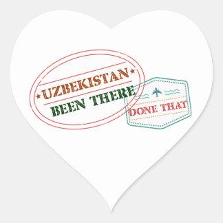 Uzbekistan Been There Done That Heart Sticker