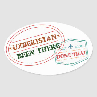 Uzbekistan Been There Done That Oval Sticker