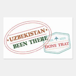 Uzbekistan Been There Done That Rectangular Sticker