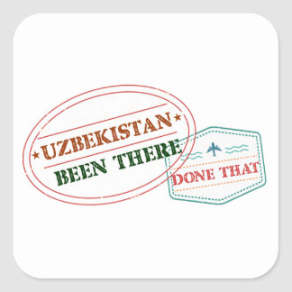 Uzbekistan Been There Done That Square Sticker