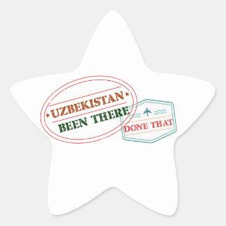 Uzbekistan Been There Done That Star Sticker