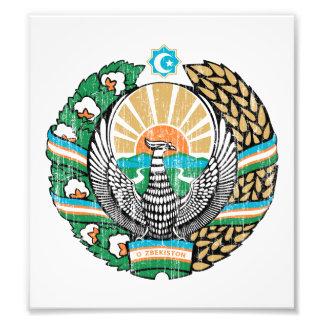 Uzbekistan Coat Of Arms Photograph