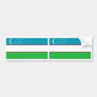 Uzbekistan Flag Bumper Sticker