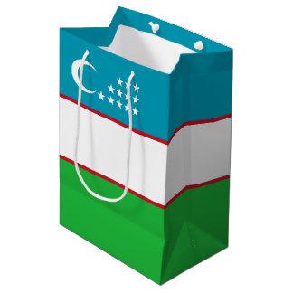 Uzbekistan Flag Medium Gift Bag