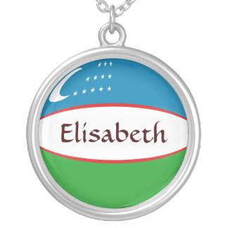 Uzbekistan Flag + Name Necklace
