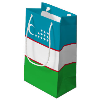 Uzbekistan Flag Small Gift Bag