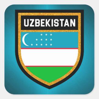 Uzbekistan Flag Square Sticker