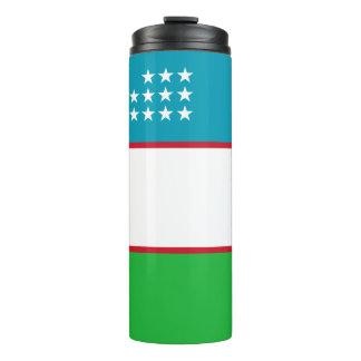 Uzbekistan Flag Thermal Tumbler