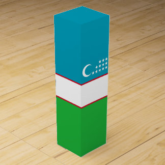 Uzbekistan Flag Wine Gift Box