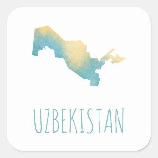 Uzbekistan Square Sticker