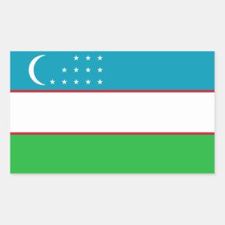 Uzbekistan/Uzbek/Uzbekistani Flag Rectangular Sticker