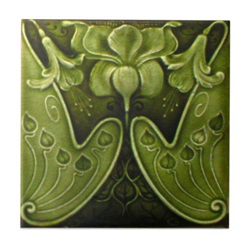 V0011 Victorian Antique Reproduction Ceramic Tile