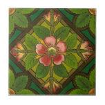 V0012 Victorian Antique Reproduction Ceramic Tile