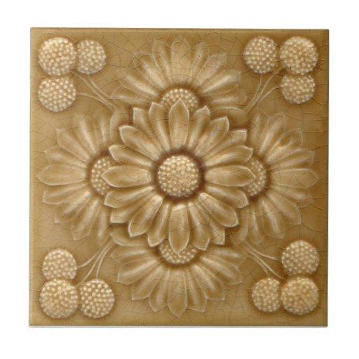 V0040 Victorian Antique Reproduction Ceramic Tile