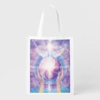 V012- Embracing Yin Yang Reusable Grocery Bag