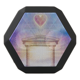 V014- Know Thy Heart Magenta Black Bluetooth Speaker