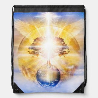 V026- Tree of Light Wings Drawstring Bag