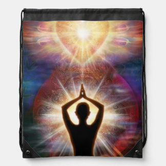 V032 Heart Salutation 1 Drawstring Bag