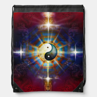 V051 BaGua Dragons Drawstring Bag
