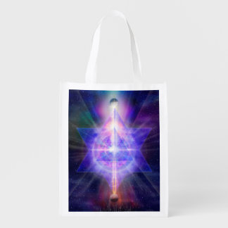 V055 Merkaba Space Reusable Grocery Bag